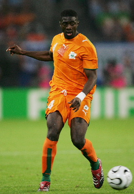 Kolo Toure with the Ivory Coast National Team