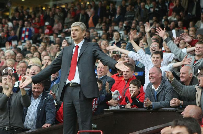 Arsene in crowd