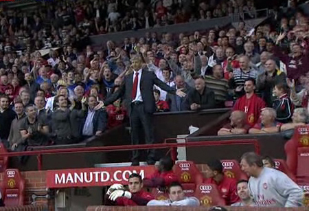 Arsene Wenger and crowd 2