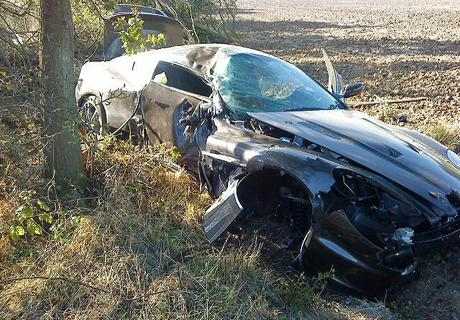 Bendtner crash