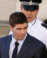 Gerrard leaving court.