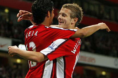 Jack Wilshere and Carlos Vela