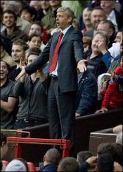 Arsene Wenger in the crowd